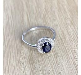 Серебряное кольцо SilverBreeze с натуральным сапфиром 0.97ct (1938232) 17 размер