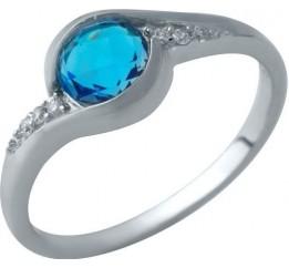 Серебряное кольцо SilverBreeze с аквамарином nano (1934074) 18 размер