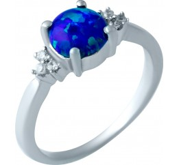Серебряное кольцо SilverBreeze с опалом 0.725ct (1919774) 19 размер