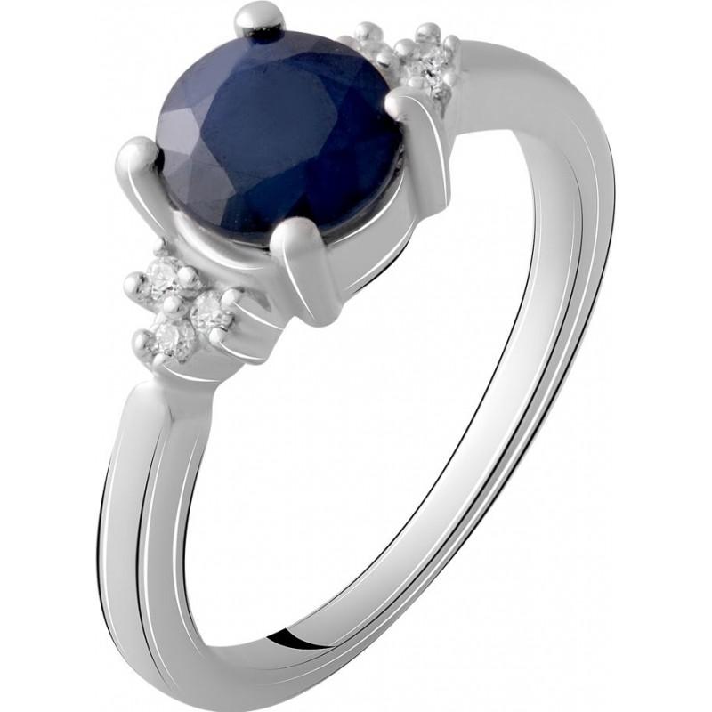 Серебряное кольцо SilverBreeze с натуральным сапфиром 1.338ct (1912447) 16.5 размер