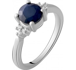 Серебряное кольцо SilverBreeze с натуральным сапфиром 1.338ct (1912447) 17 размер