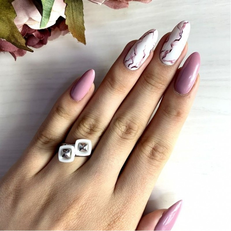 Серебряное кольцо SilverBreeze с керамикой (1908754) 18 размер