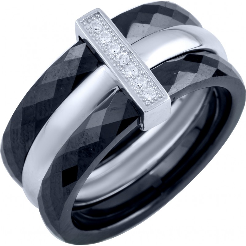 Серебряное кольцо SilverBreeze с керамикой (1903919) 17.5 размер