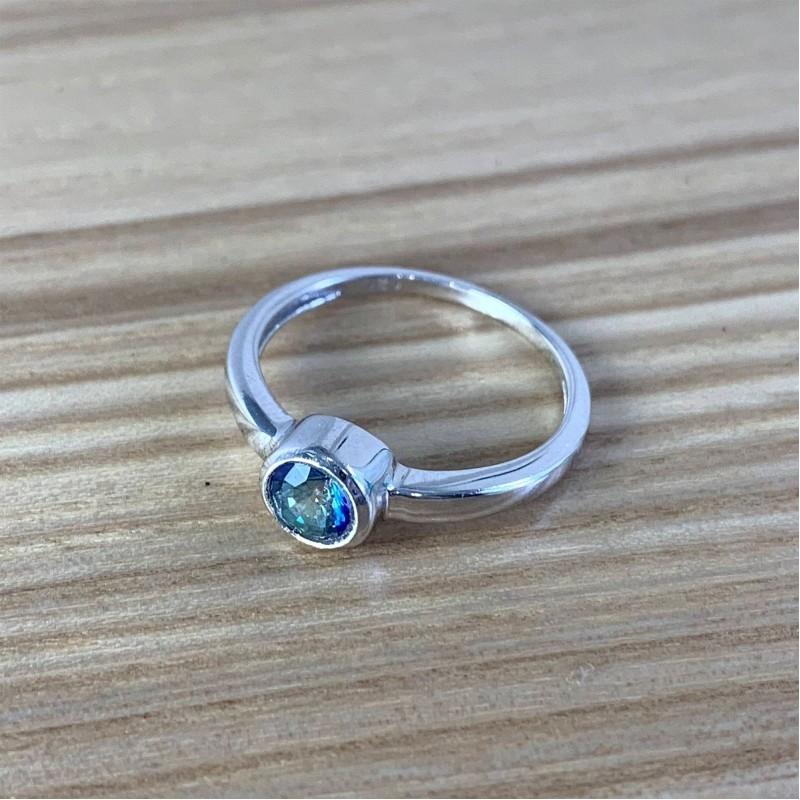 Серебряное кольцо SilverBreeze с натуральным мистик топазом 0.613ct (1838013) 16.5 размер