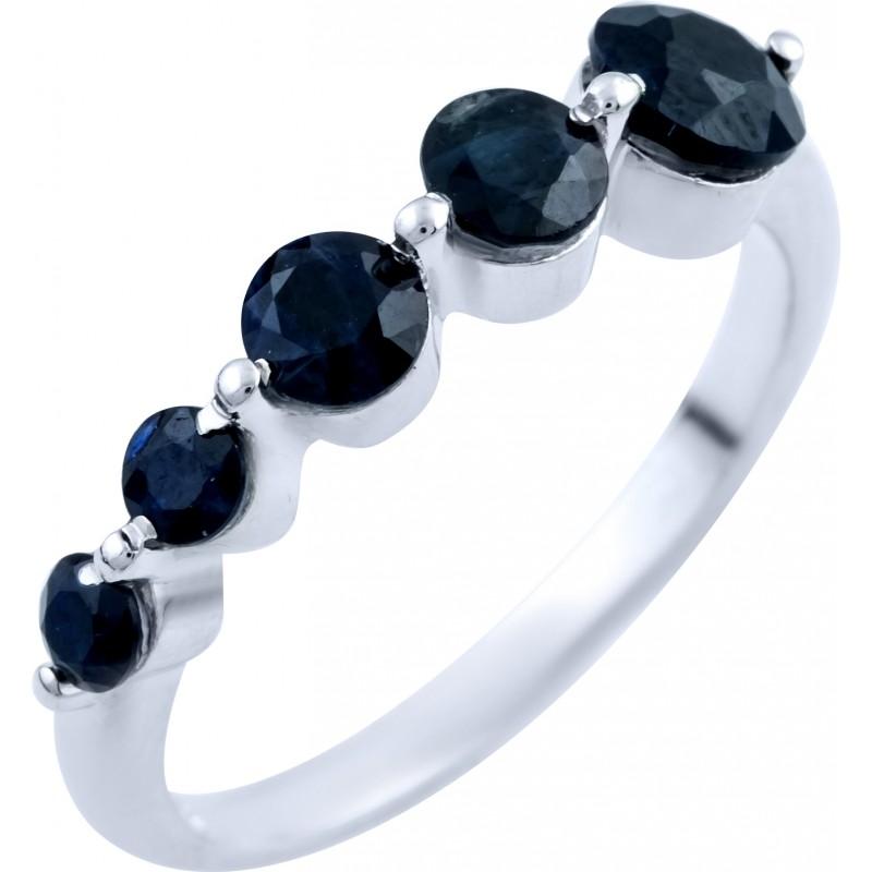 Серебряное кольцо SilverBreeze с натуральным сапфиром (1837856) 17 размер
