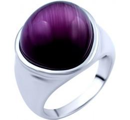 Серебряное кольцо SilverBreeze с кошачим глазом (1803110) 17.5 размер