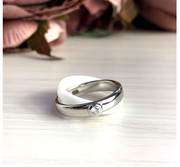 Серебряное кольцо SilverBreeze с керамикой (1765043) 16.5 размер