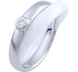 Серебряное кольцо SilverBreeze с керамикой (1765043) 18.5 размер