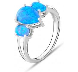 Серебряное кольцо SilverBreeze с опалом 1.14ct (1763448) 17.5 размер