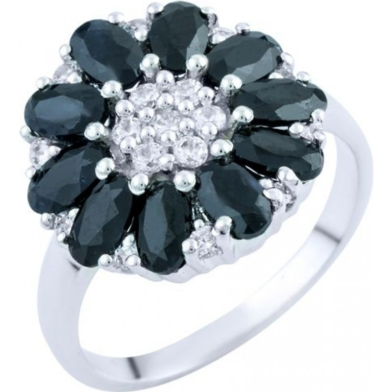 Серебряное кольцо SilverBreeze с натуральным сапфиром 4.23ct (1762882) 17 размер
