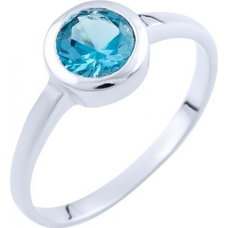 Серебряное кольцо SilverBreeze с натуральным топазом (1739976) 18 размер