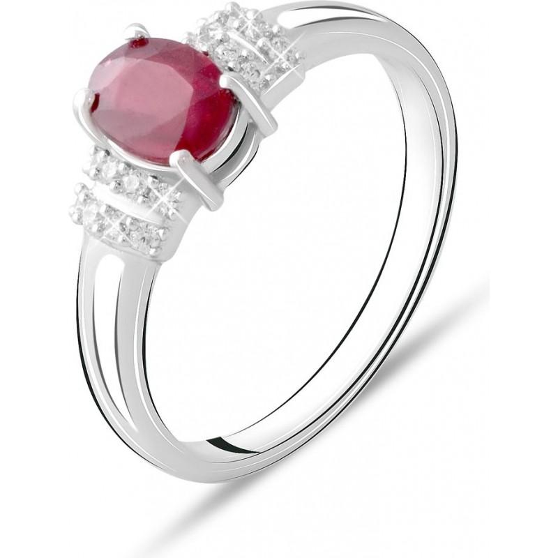 Серебряное кольцо SilverBreeze с натуральным рубином 1.215ct (1734384) 17 размер