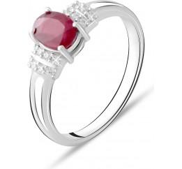 Серебряное кольцо SilverBreeze с натуральным рубином 1.215ct (1734384) 18.5 размер
