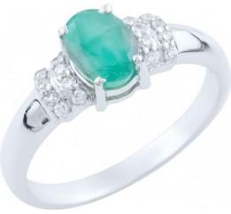 Серебряное кольцо SilverBreeze с натуральным изумрудом 0.971ct (1663806) 18.5 размер