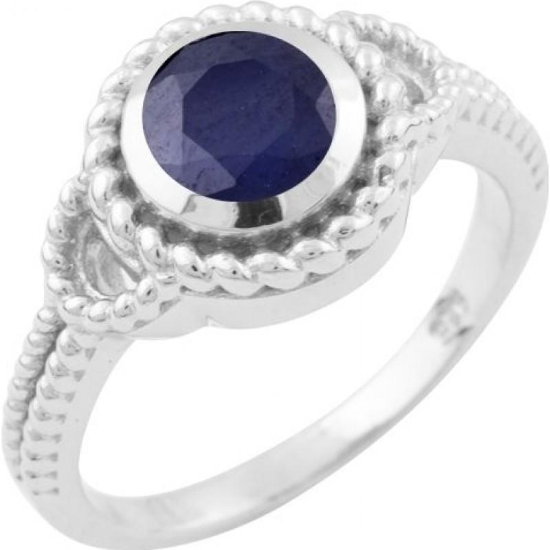Серебряное кольцо SilverBreeze с натуральным сапфиром (1646489) 17 размер