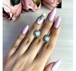 Серебряные серьги SilverBreeze с опалом 1.498ct (1635377)