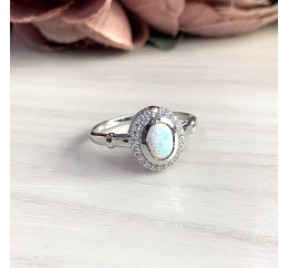 Серебряное кольцо SilverBreeze с опалом 0.743ct (1634844) 18 размер