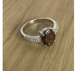 Серебряное кольцо SilverBreeze с натуральным гранатом 2.5ct (1634783) 17 размер