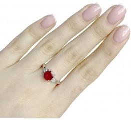 Серебряное кольцо SilverBreeze с натуральным рубином 1.886ct (1634517) 16.5 размер