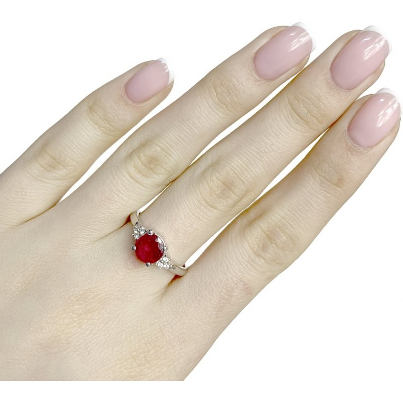 Серебряное кольцо SilverBreeze с натуральным рубином 1.886ct (1634517) 18.5 размер
