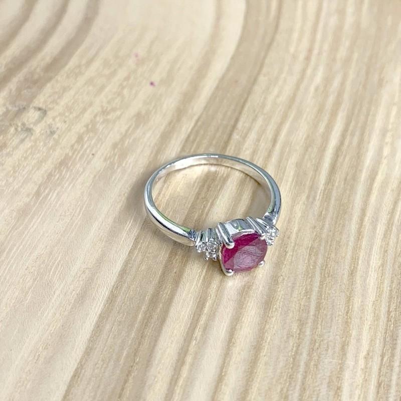 Серебряное кольцо SilverBreeze с натуральным рубином 1.886ct (1634517) 18 размер
