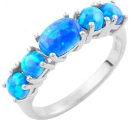 Серебряное кольцо SilverBreeze с опалом (1634059) 17 размер