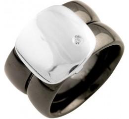 Серебряное кольцо SilverBreeze с керамикой (1541333) 17 размер