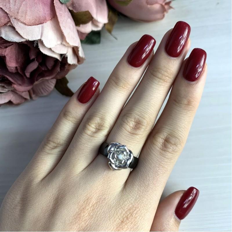 Серебряное кольцо SilverBreeze с керамикой (1540206) 19 размер