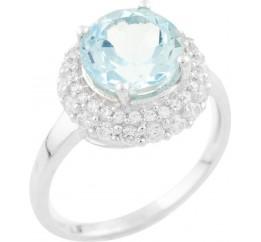 Серебряное кольцо SilverBreeze с натуральным топазом (1537633) 17 размер