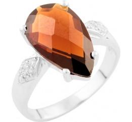 Серебряное кольцо SilverBreeze с натуральным гранатом 3.99ct (1531785) 16.5 размер
