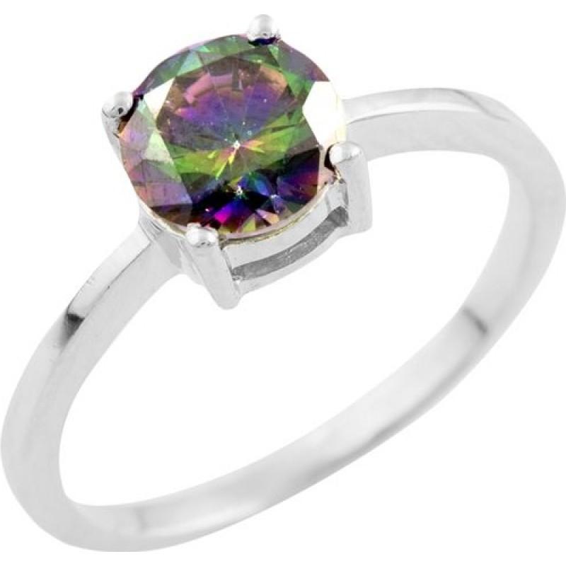 Серебряное кольцо SilverBreeze с натуральным мистик топазом 1.017ct (1515860) 18 размер