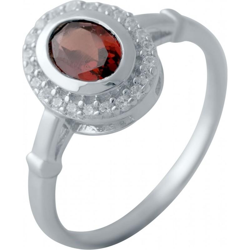 Серебряное кольцо SilverBreeze с натуральным гранатом 1.255ct (1512814) 16.5 размер
