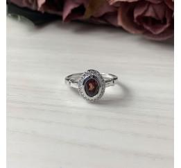 Серебряное кольцо SilverBreeze с натуральным гранатом 1.255ct (1512814) 18.5 размер