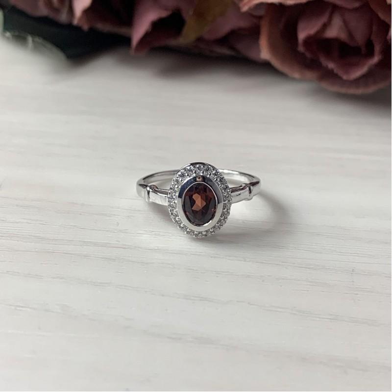 Серебряное кольцо SilverBreeze с натуральным гранатом 1.255ct (1512814) 18 размер