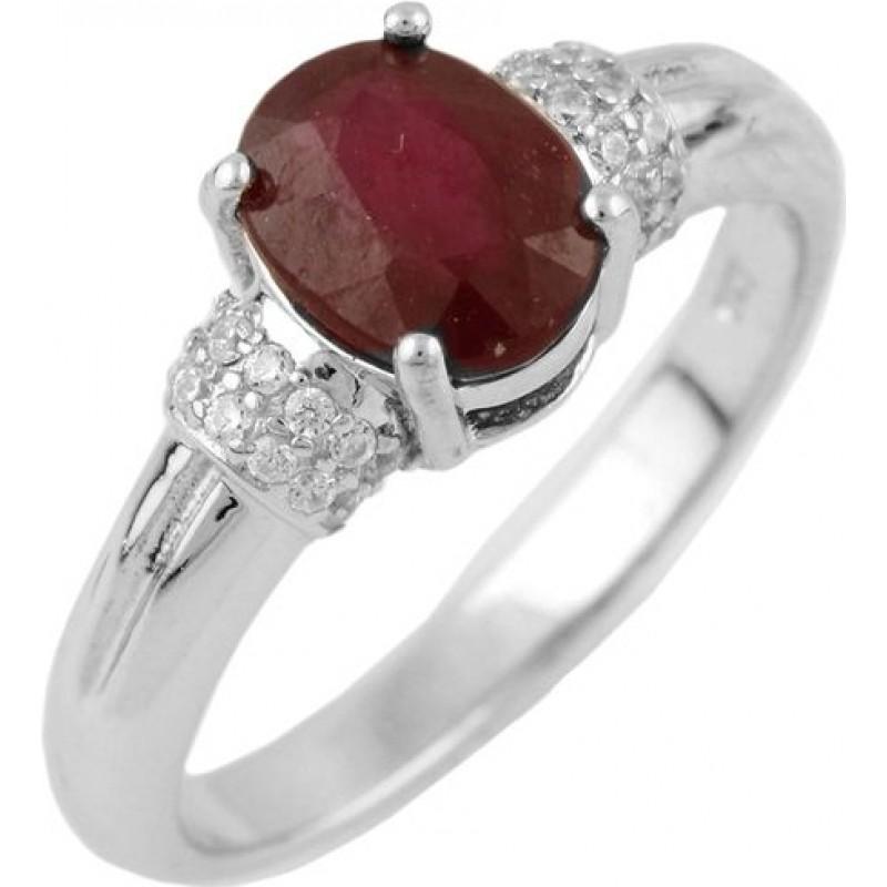 Серебряное кольцо SilverBreeze с натуральным рубином (1467817) 18 размер