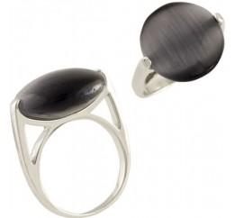 Серебряное кольцо SilverBreeze с кошачим глазом (1464137) 17.5 размер
