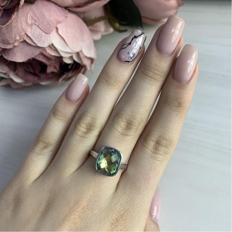 Серебряное кольцо SilverBreeze с натуральным мистик топазом 4.05ct (1456477) 17 размер