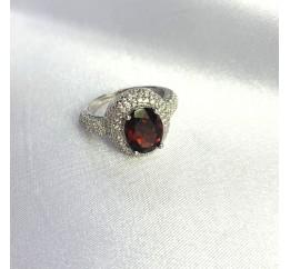 Серебряное кольцо SilverBreeze с натуральным гранатом 4.699ct (1451076) 17.5 размер