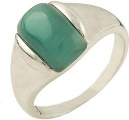 Серебряное кольцо SilverBreeze с кошачим глазом (1285589) 16.5 размер
