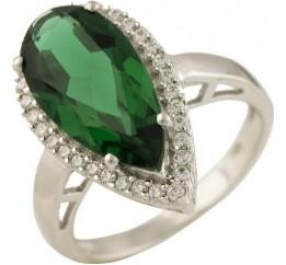 Серебряное кольцо SilverBreeze с изумрудом nano (1245118) 16.5 размер
