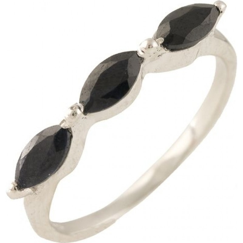Серебряное кольцо SilverBreeze с натуральным сапфиром (1239315) 18 размер