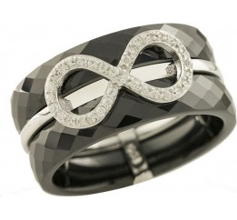 Серебряное кольцо SilverBreeze с , керамикой (1221761) 16 размер