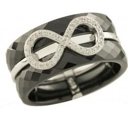 Серебряное кольцо SilverBreeze с , керамикой (1221761) 16.5 размер