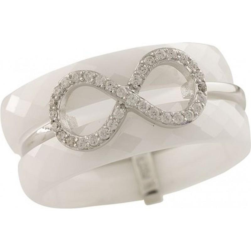 Серебряное кольцо SilverBreeze с керамикой (1221716) 16 размер