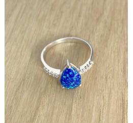 Серебряное кольцо SilverBreeze с опалом 1.14ct (1203699) 18 размер
