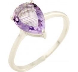 Серебряное кольцо SilverBreeze с натуральным аметистом (1199053)