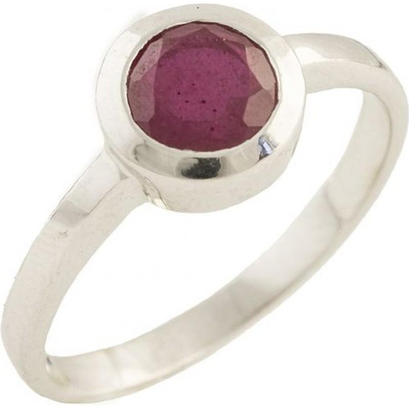 Серебряное кольцо SilverBreeze с натуральным рубином 1.238ct (1192436) 17 размер