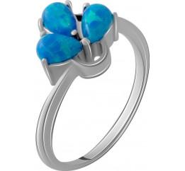 Серебряное кольцо SilverBreeze с опалом (1189634) 18 размер