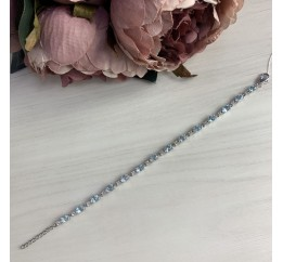 Серебряный браслет SilverBreeze с натуральным топазом (1185087) 1820 размер