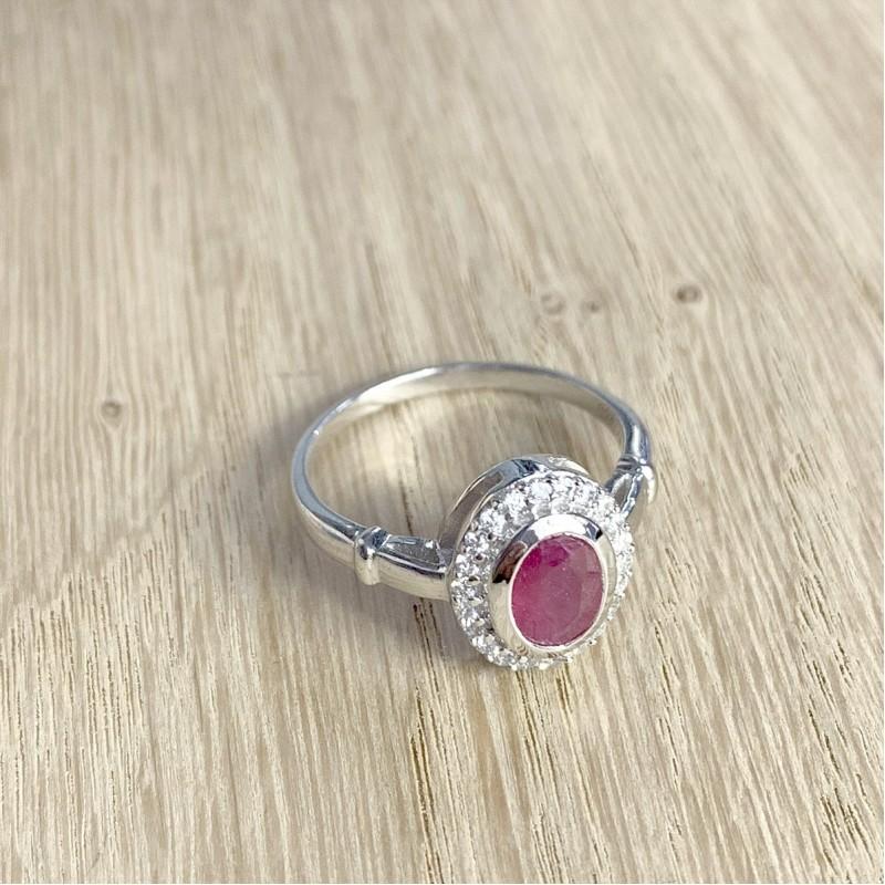 Серебряное кольцо SilverBreeze с натуральным рубином 1.405ct (1087992) 16.5 размер
